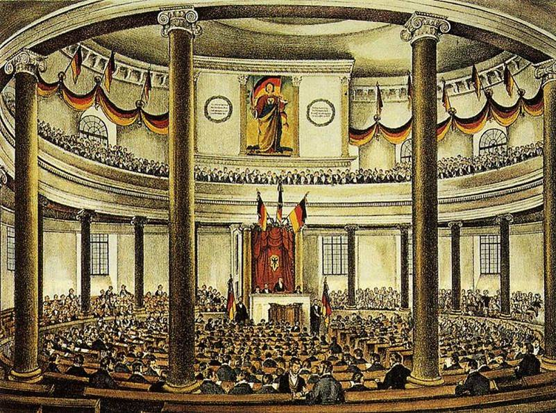 Das Parlament in der Frankfurter Paulskirche